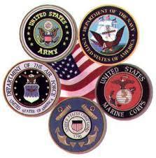 Veterans Seals of the Branches of the Armed Forces